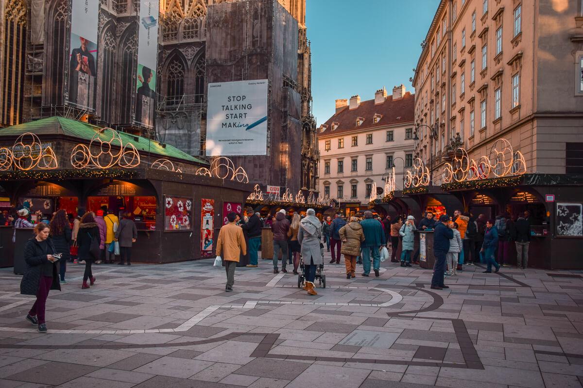 Vienna Christmas market Stephansplatz