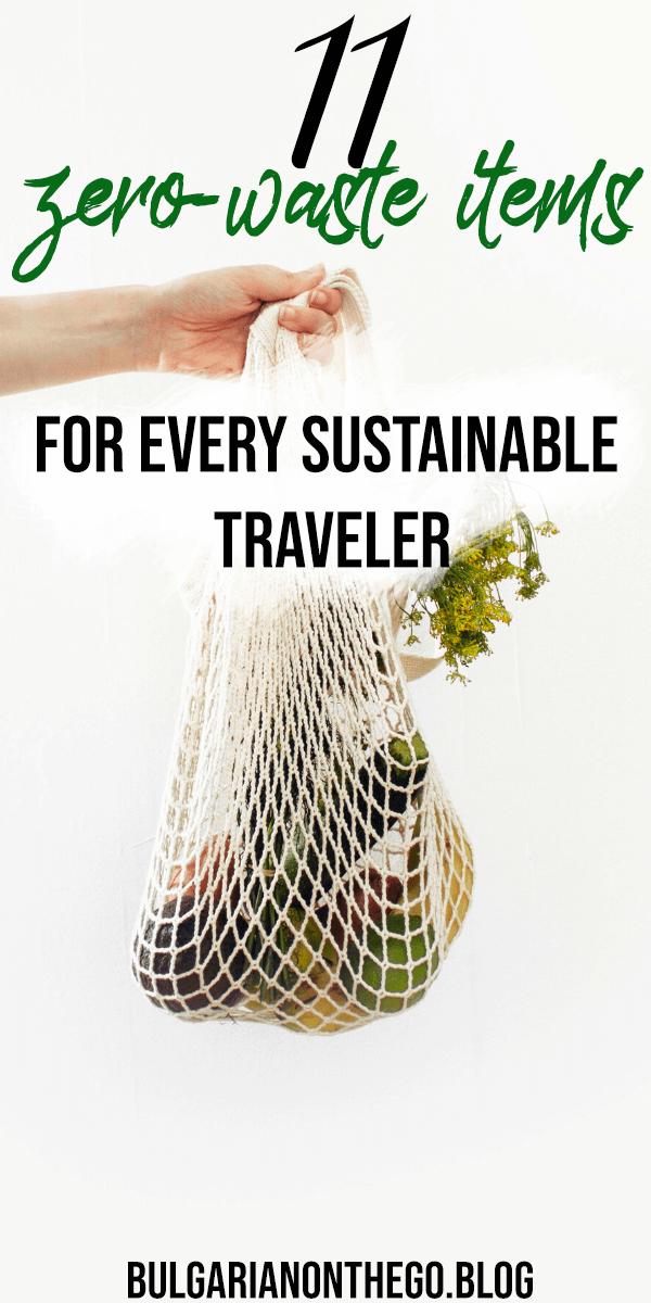 zero waste travel pin