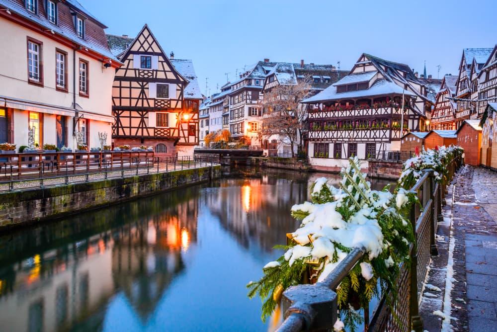 Winter city break Strasbourg France